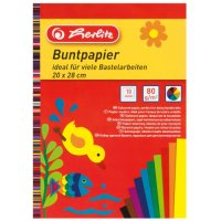 Buntpapierblock 20x28 cm 10 Blatt