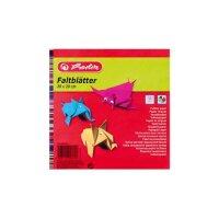 Faltblätter 20x20 cm 100 Blatt farbig sortiert 60g/qm
