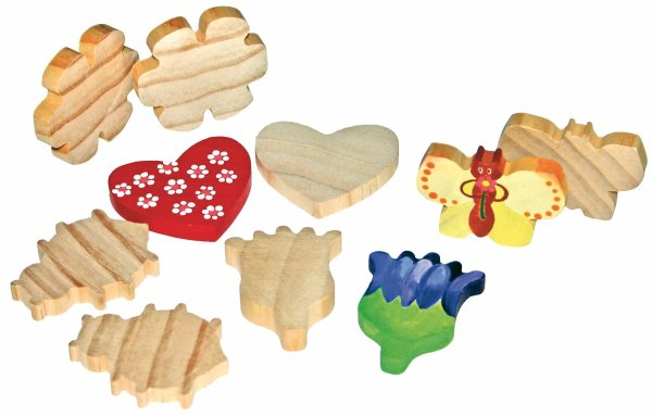 Holzfiguren Muttertag 10er Set