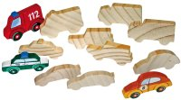Holzfiguren Fahrzeuge 12er Set