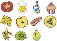 Ernährungsstempel 12er Set