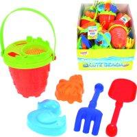 Sandspielzeugset 6-teilig (farblich sortiert)